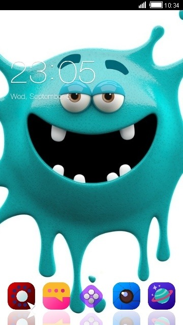 Crazy Monster CLauncher Android Theme Image 1