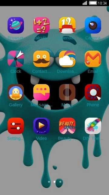 Crazy Monster CLauncher Android Theme Image 2