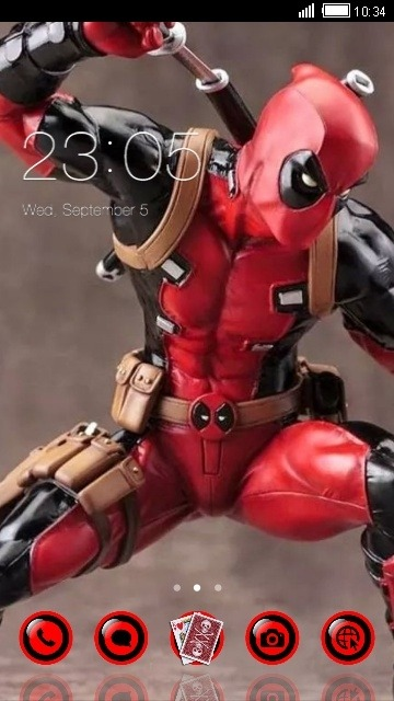 Deadpool CLauncher Android Theme Image 1