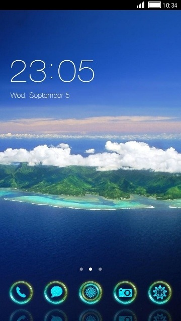 Island CLauncher Android Theme Image 1