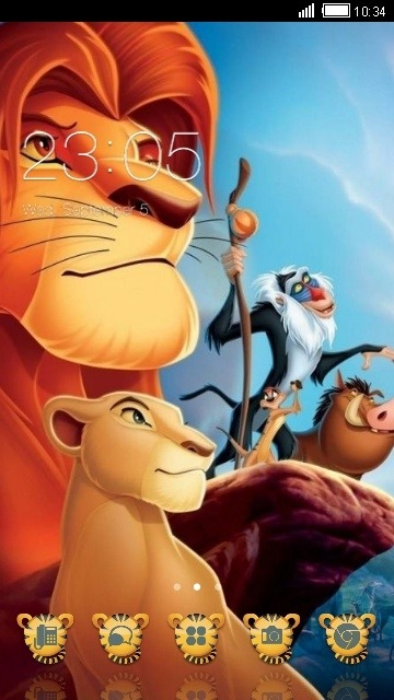 Lion King CLauncher Android Theme Image 1