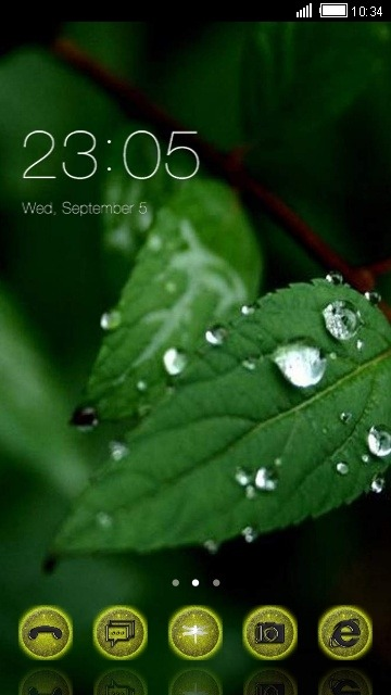 Green Leaf CLauncher Android Theme Image 1
