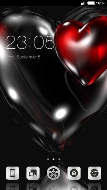 Hearts CLauncher Android Theme Image 1