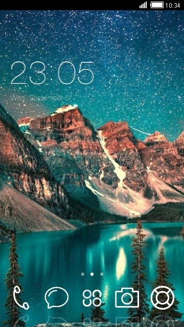 Mountains CLauncher Android Theme Image 1