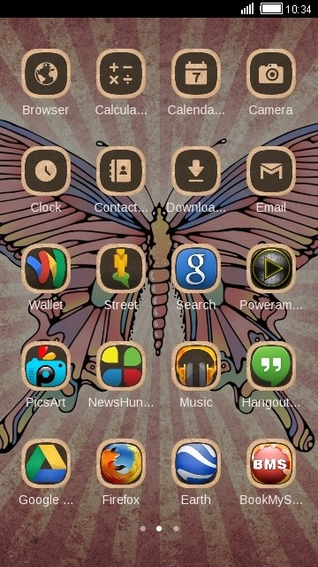 Butterfly CLauncher Android Theme Image 2