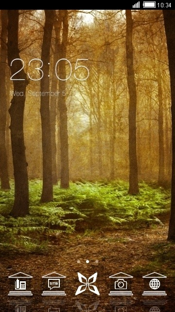 Forest CLauncher Android Theme Image 1