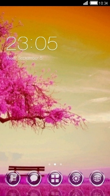 Pink Tree CLauncher Android Theme Image 1