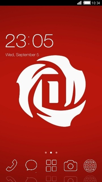 Rose CLauncher Android Theme Image 1