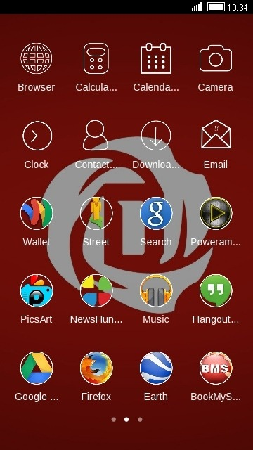 Rose CLauncher Android Theme Image 2