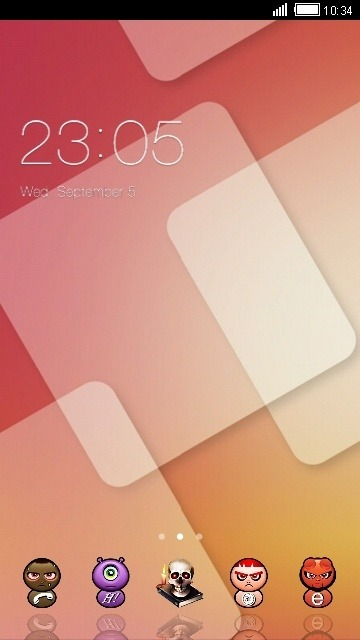 Squares CLauncher Android Theme Image 1