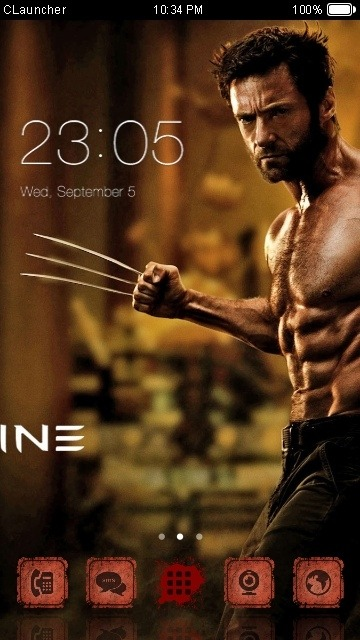 Wolverine CLauncher Android Theme Image 1