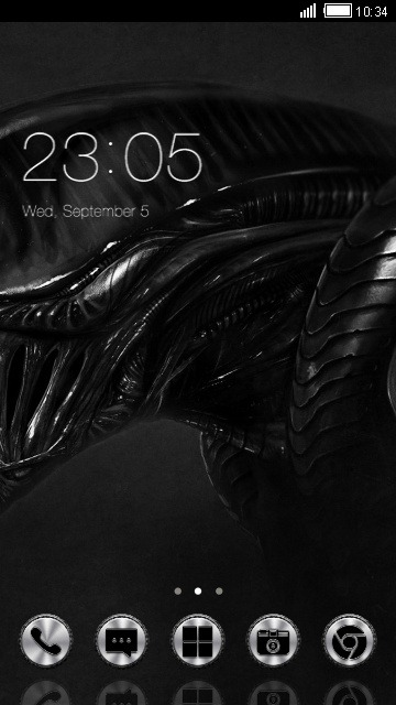 Alien CLauncher Android Theme Image 1
