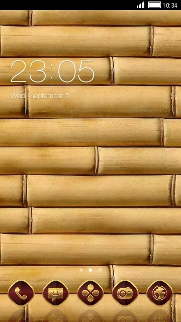 Wood CLauncher Android Theme Image 1