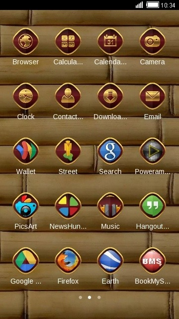 Wood CLauncher Android Theme Image 2