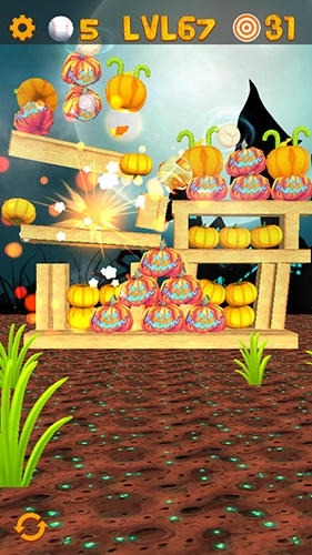 Knockdown The Pumpkins 2 Android Game Image 4
