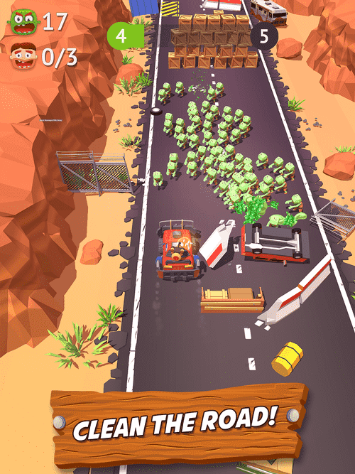 Zombie Land Rush Android Game Image 1