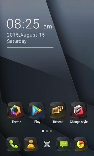 Obsidian GO Launcher Android Theme Image 2