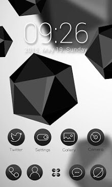 Black & White Go Launcher Android Theme Image 1
