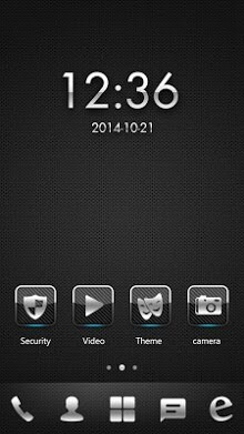 Dark Metal Go Launcher Android Theme Image 1