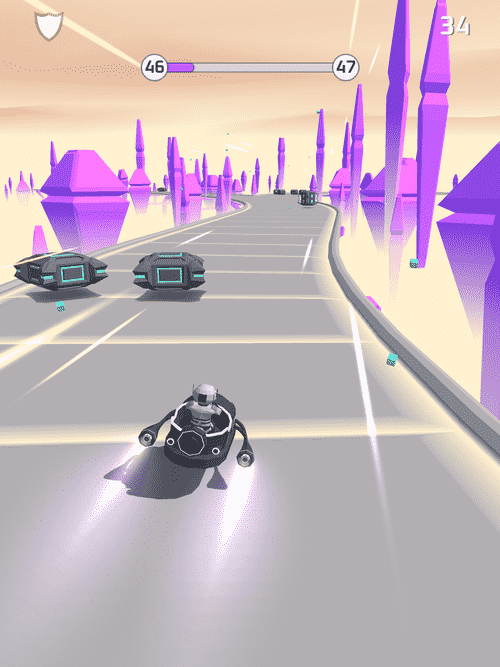 Bob's Cloud Race: Casual Low Poly Game Android Game Image 2