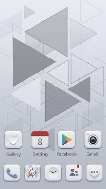Pale Go Launcher Android Theme Image 1