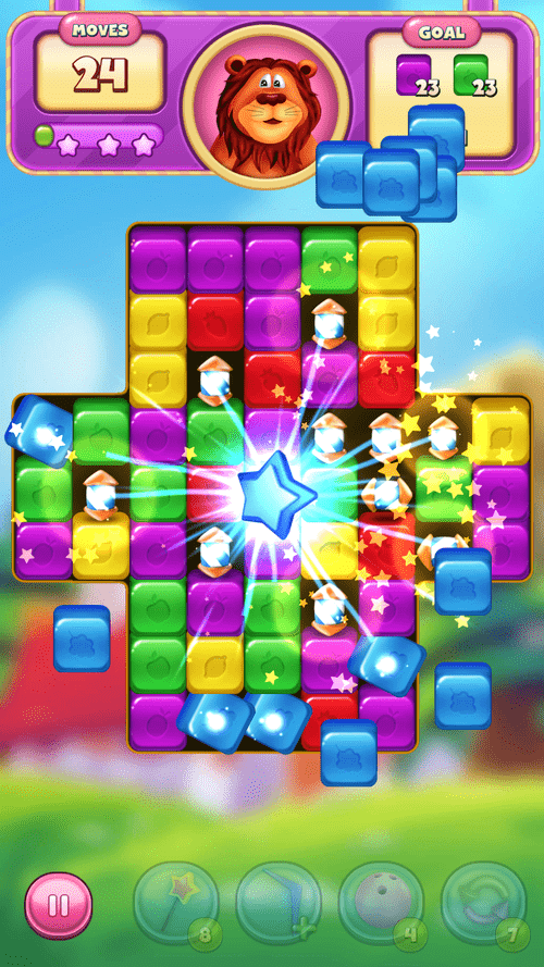 Cartoon Crush: Blast 3 Matching Games Toon Puzzle Android Game Image 1