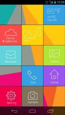 Cube Go Launcher Android Theme Image 1
