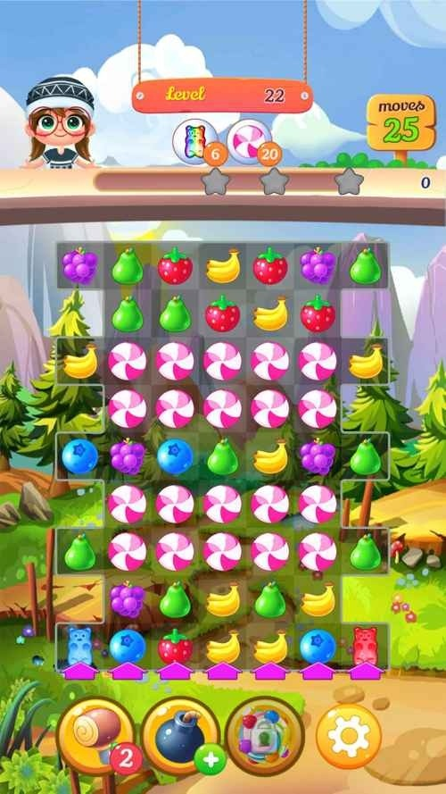 New Tasty Fruits Bomb: Puzzle World Android Game Image 2