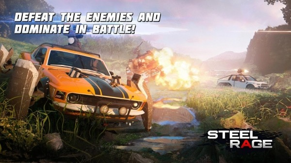 Steel Rage: Robot Cars PvP Shooter Warfare Android Game Image 1
