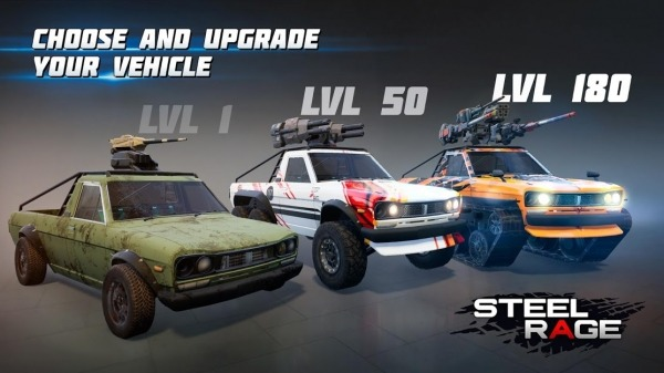 Steel Rage: Robot Cars PvP Shooter Warfare Android Game Image 2