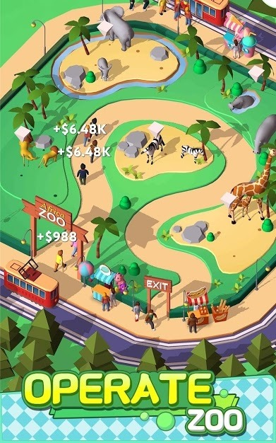 Idle Animals Kingdom - Wonder Zoo Tycoon Android Game Image 1
