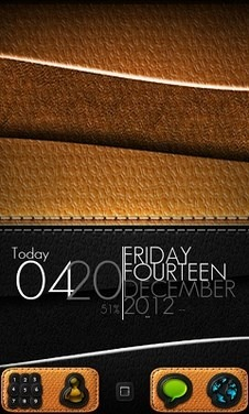Leather Go Launcher Android Theme Image 1