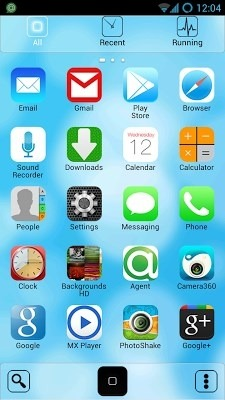 iOS Go Launcher Android Theme Image 2