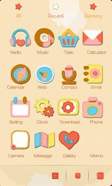 ZCute Go Launcher Android Theme Image 2