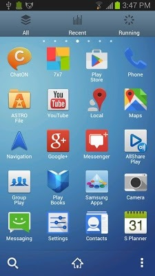 Galaxy S Go Launcher Android Theme Image 2