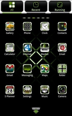 G.White Go Launcher Android Theme Image 2