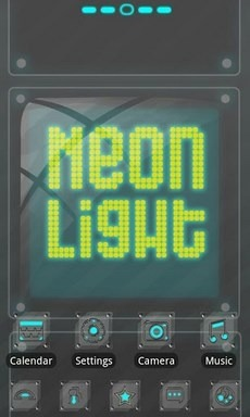 Neonlight Go Launcher Android Theme Image 1