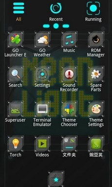 Neonlight Go Launcher Android Theme Image 2