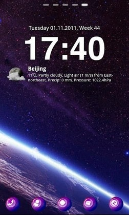 Starry Night2 Go Launcher Android Theme Image 1