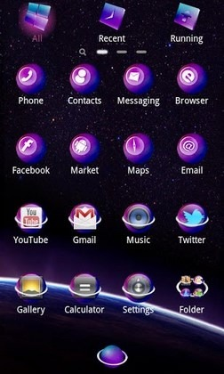 Starry Night2 Go Launcher Android Theme Image 2