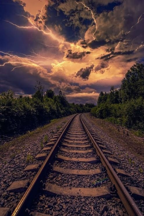 Android Wallpaper Railway Track