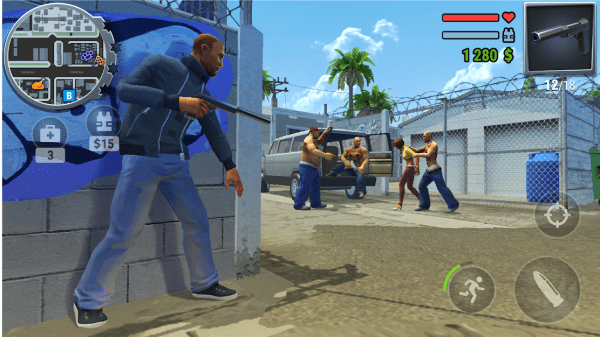 STREETS OF FIRE. Real Gangster Wars Android Game Image 1