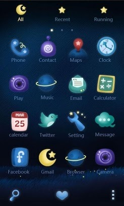 Rainbow Night Go Launcher Android Theme Image 2