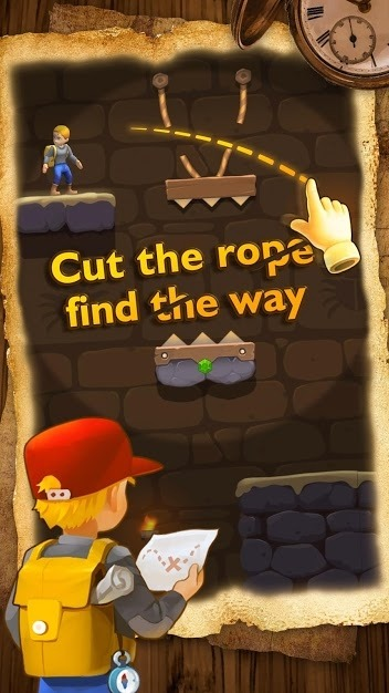Relic Adventure - Rescue Cut Rope Puzzle Game Android Game Image 1