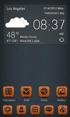 S-Red Bottom Go Launcher Android Theme Image 1