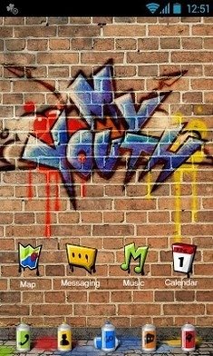My Youth Go Launcher Android Theme Image 1