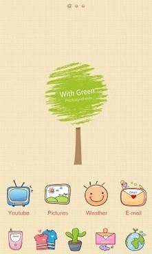 With Go Launcher Android Theme Image 1