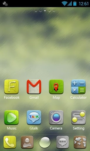 H-Droplet Go Launcher Android Theme Image 1