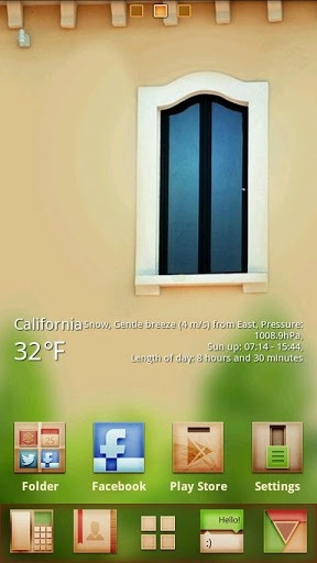 Window Go Launcher Android Theme Image 1