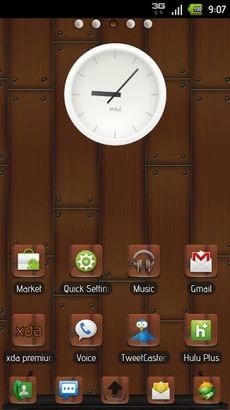 Modern Wood Go Launcher Android Theme Image 1